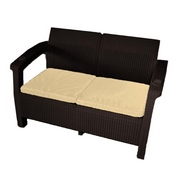 Двухместный диван Yalta Sofa 2 Seat Chocolate (иск.ротанг)